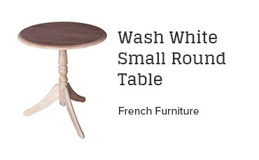 Wash White Small Round Table